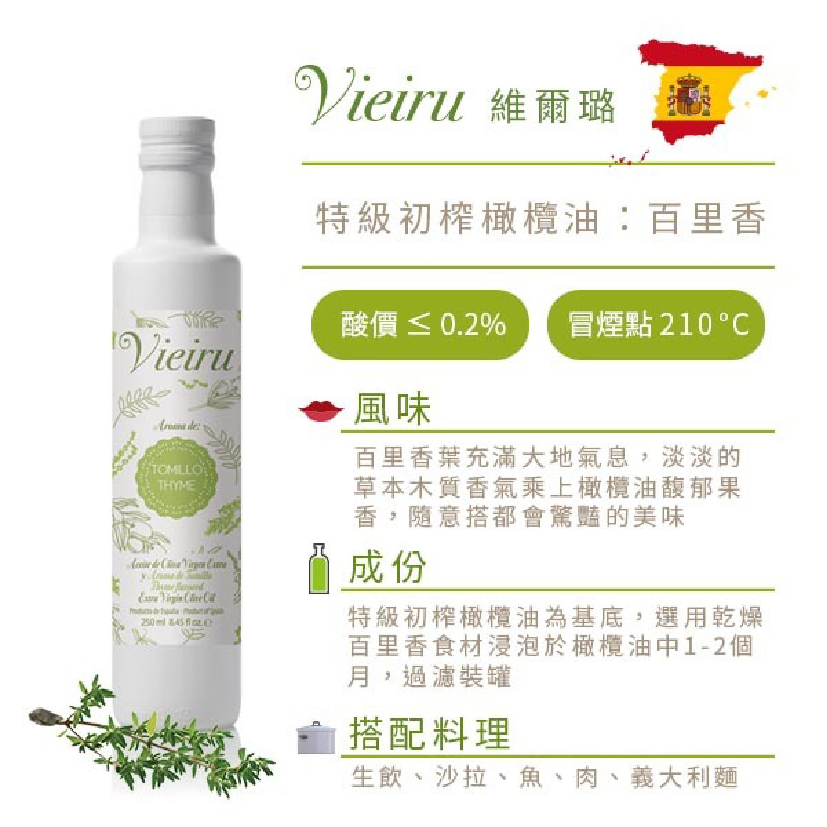 【好食好市】Vieiru 維爾璐 - 特級初榨百里香風味橄欖油