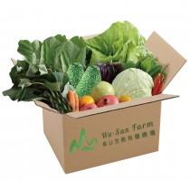 烏山生態有機農場有機蔬菜箱(除高雄外-其他區域黑貓宅配到府)